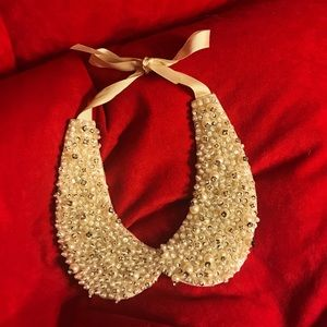 Pearl and jewel Peter Pan collar necklace